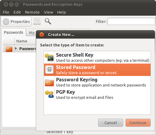 Manage your passwords and encryption keys 2