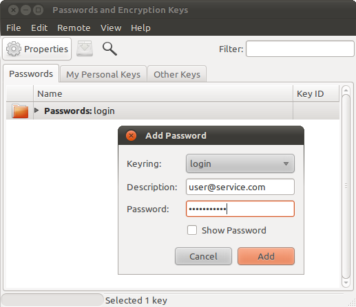 Manage your passwords and encryption keys 3