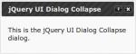 jQuery UI Dialog Collaps 1