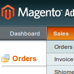 Magento Orders Menu Item