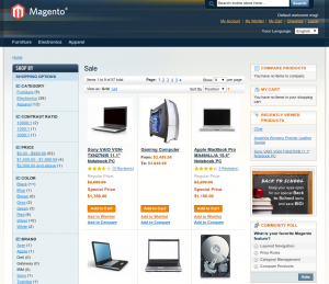 Magento store sale only area